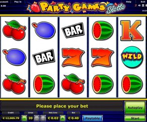 Automat Party Games Slotto Online Zdarma