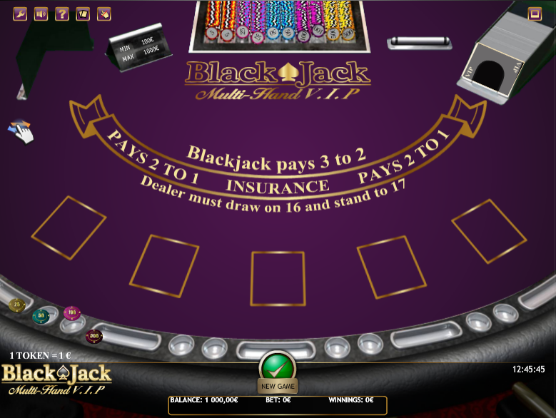 Black Jack Multihand VIP
