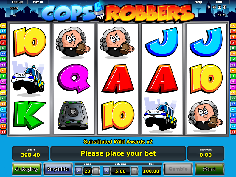 Cops And Robbers Novomatic