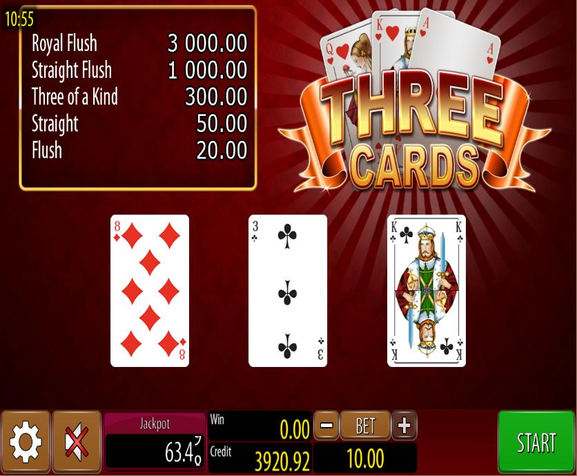 Three Cards Wazdan