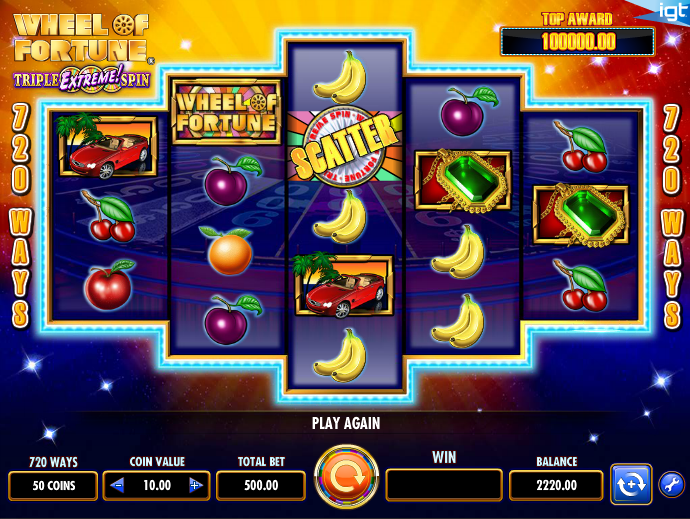 Whell Of Fortune – Triple Extreme Spin